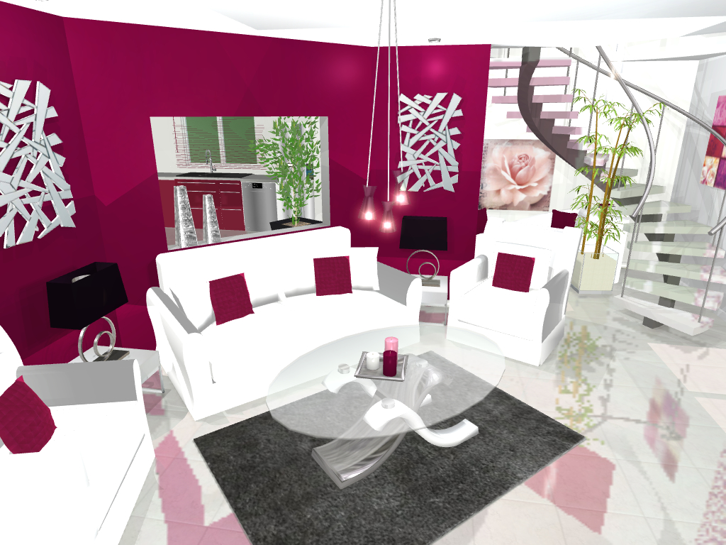 Un salon chic et contemporain - Salon de the veules les roses ...