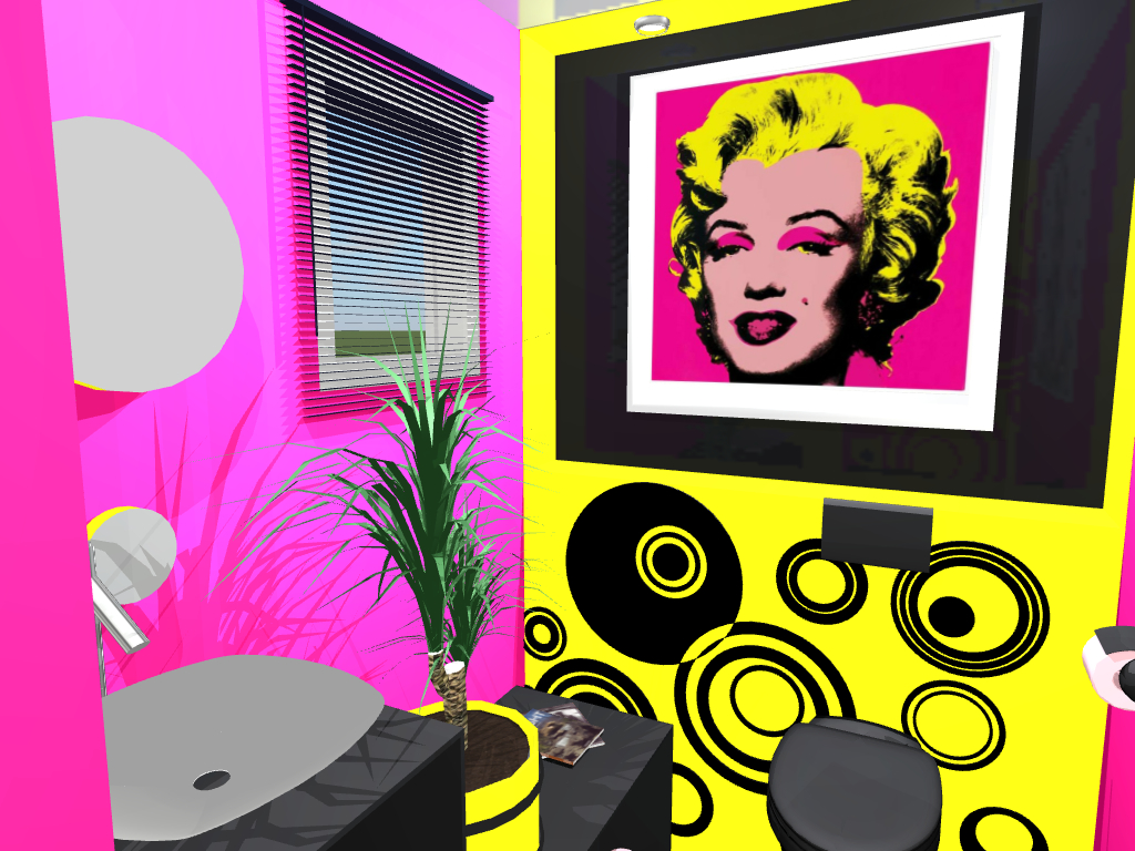 ambiance pop art pour vos wc. Black Bedroom Furniture Sets. Home Design Ideas